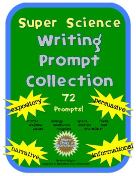 Super Science Writing Prompt Collection (72 Prompts!)