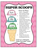 Super Scoops Ice Cream CVC Words Game and Literacy Center