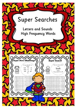 Super Searches - Letters and Sounds High Frequency and Tricky Words