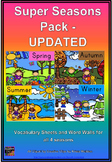Super Seasons Vocabulary Pack **UPDATED