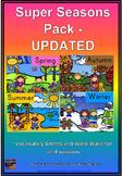 Super Seasons Vocabulary Pack **UPDATED