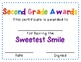 Super Second Grade Awards - End of the Year