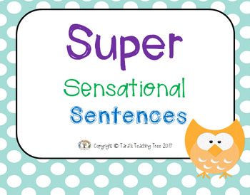 Super Sensational Sentences PowerPoint