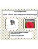Super Senses, Structures and Communication- Complete NGSS: 4-LS1 Unit (Editable)