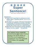 Super Sentence Advanced Vocabulary