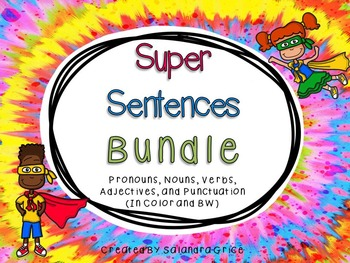 Super Sentence Bundle- Part 1 and 2