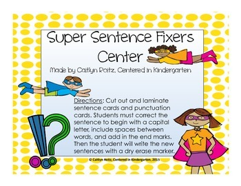 Super Sentence Fixers Center!