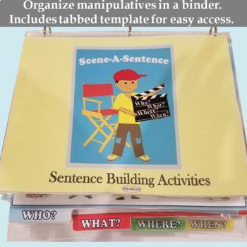 Scene a Sentence: Create a Picture Scene and Write