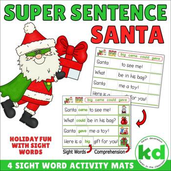 Super Sentence Santa - SIGHT WORDS