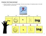 Verb Tense and Expanding Utterances Sentence Strips