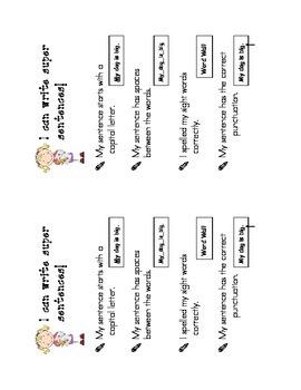 Super Sentence Success Criteria for Kindergarten