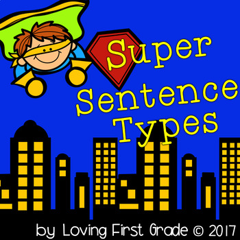 Superhero Sentence Types Pack