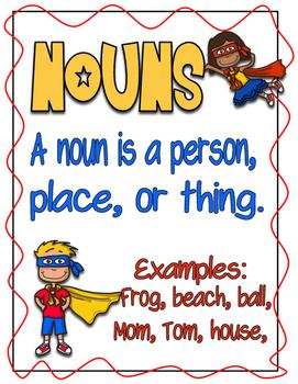 Super Sentences - Activities for Nouns and Verbs