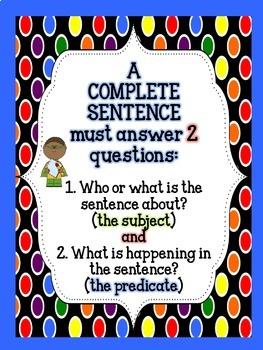 Super Sentences! Complete Sentence Bundle (includes Station Activities)