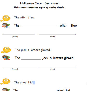 Super Sentences! (Halloween)