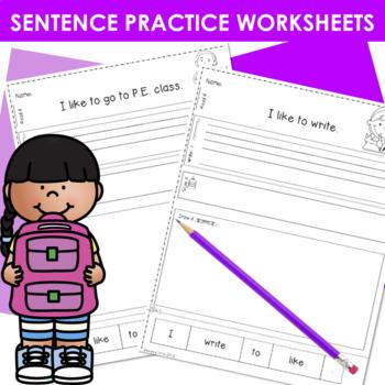 Predictable Sentence   Simple Sentences August & September