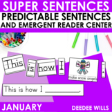 Predictable Sentences | Simple Sentences for January