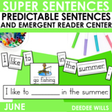 Predictable Sentences | Simple Sentences for June
