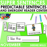 Predictable Sentences   Simple Sentences for Fall