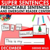 Predictable Sentences | Simple Sentences for Christmas