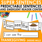 Predictable Sentences for Thanksgiving