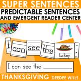 Predictable Sentences | Simple Sentences for Thanksgiving