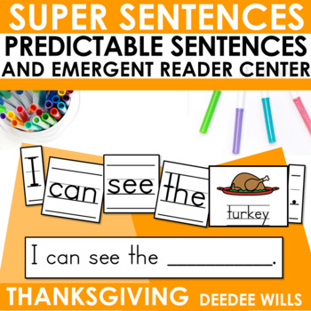 Predictable Sentences | Simple Sentences for Thanksgiving