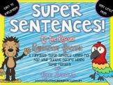 Super Sentences! RAINFOREST Freebie Writing Pack