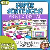 Sentence Building Task Cards for Writing Better Sentences