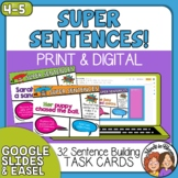 Sentence Building Task Cards and TpT Digital Activity Writ