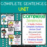 Complete Sentences UNIT:  buddy posters, practice sheets, & lots more!