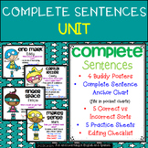 Complete Sentences UNIT:  buddy posters, practice sheets, and more!