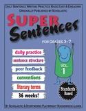 Super Sentences daily sentence writing program