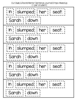 Super Sentences in a Snap: Mentor Sentence Printables (Back to School)