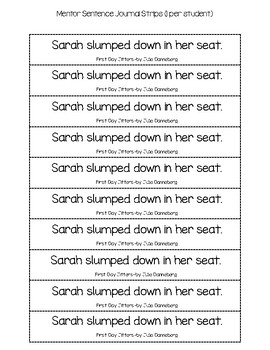 Super Sentences in a Snap SAMPLE (Back to School)