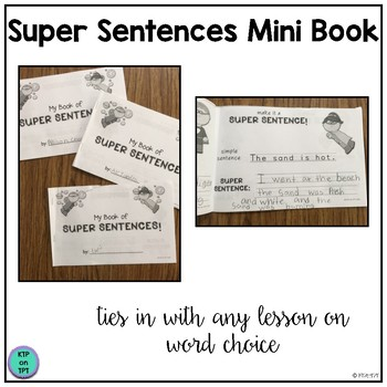 Super Sentences mini book