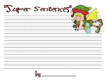 Super Sentences with a Christmas Twist