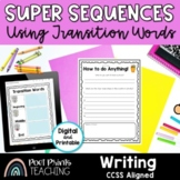 Sequence and Transition Words Activity, Procedural Writing