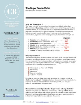 Super Seven Verbs: A High-Frequency Verb Handout for Novice Learners