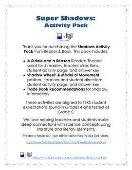 Super Shadows Activity Pack