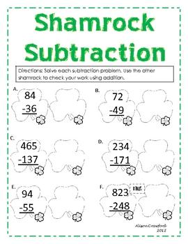 Super Shamrock Subtraction