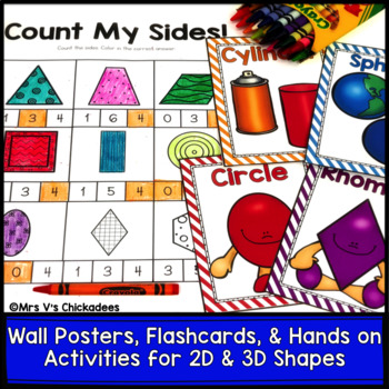 2D & 3D Shapes: 105 Pages of Worksheets & Hands on Activities
