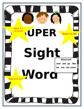 Super Sight Word Activities Week 1