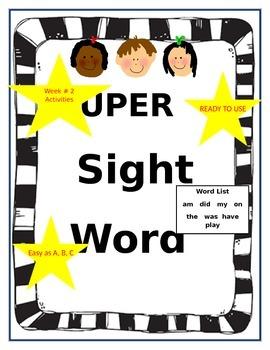 Super Sight Word Activities Week 3