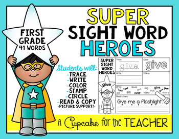 Super Sight Word Heroes {First Grade}