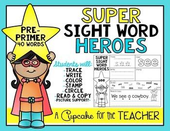Super Sight Word Heroes {Pre-Primer}