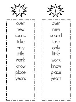 Super Sight Word Lists - Fry's Second 100 Words