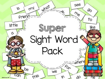 Super Sight Word Pack - aligned to Treasures Curriculum and Dolch Sight Words