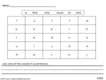 Super Sight Word Packet