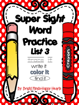 Super Sight Word Practice - List 3